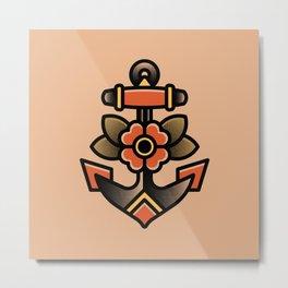 Anchor Tattoo Metal Print