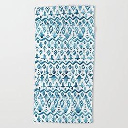 Mya Watercolor - White Beach Towel