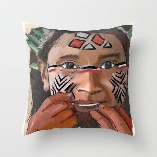 Karaja girl Throw Pillow
