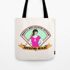 Don´t let cancer steal second base Tote Bag