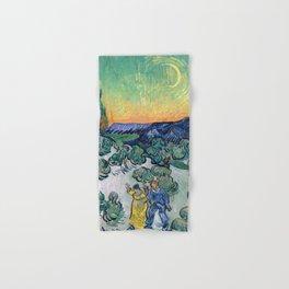 Couple Walking among Olive Trees, Vincent Van Gogh Hand & Bath Towel