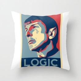 Logic Poster Throw Pillow