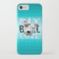 pit bull iPhone & iPod Cases featuring Pit Bull by Benjamin Ring