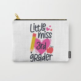 Back To School Little Miss 3rd Grader Third Grade Carry-All Pouch