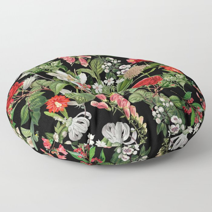 Botanical Pattern Floor Pillow