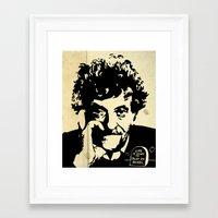 vonnegut Framed Art Prints featuring Vonnegut print 2 by Nick Wesley