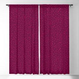 Raspberry Paint Drops Blackout Curtain