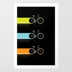 Light Bicycles Art Print
