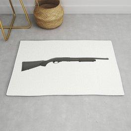 Black Pump-Action Shotgun Rug