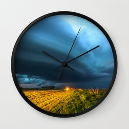 UFO - Storm After Dark in Southern Oklahoma Wall Clock