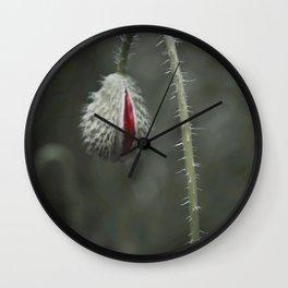 Botanical Still-Life Photography Poppy Unveiled Wall Clock