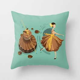 Caramel Salted Butter Choux  Throw Pillow