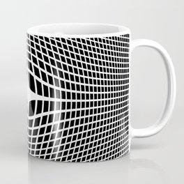 White On Black Convex Coffee Mug