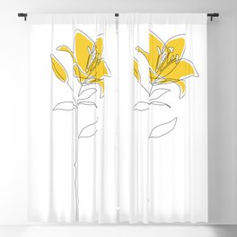 Mustard Lily Blackout Curtain