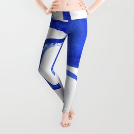 Abstract Half Circle Shapes In Classic Blue Leggings