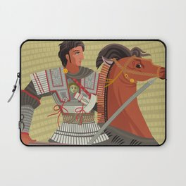 alexander the great mosaic riding a horse Laptop Sleeve