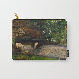 Ophelia Oil Painting by Sir John Everett Millais Carry-All Pouch