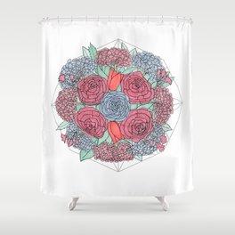 Dark Flowers Shower Curtain