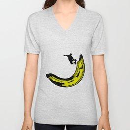 Banana Pipeline Skateboarder Unisex V-Neck