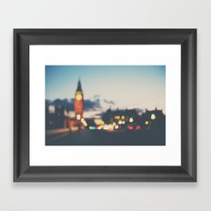 london lights Framed Art Print