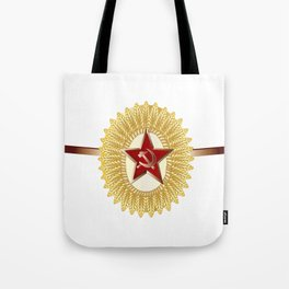 Soviet Officer Cap Badge Tote Bag