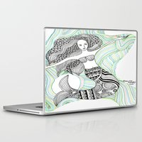 mermaids Laptop & iPad Skins featuring Mermaids by winnie patterson