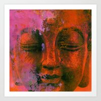 meditation Art Prints featuring Meditation by zAcheR-fineT