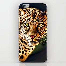 Leopard Digital Painting iPhone Skin