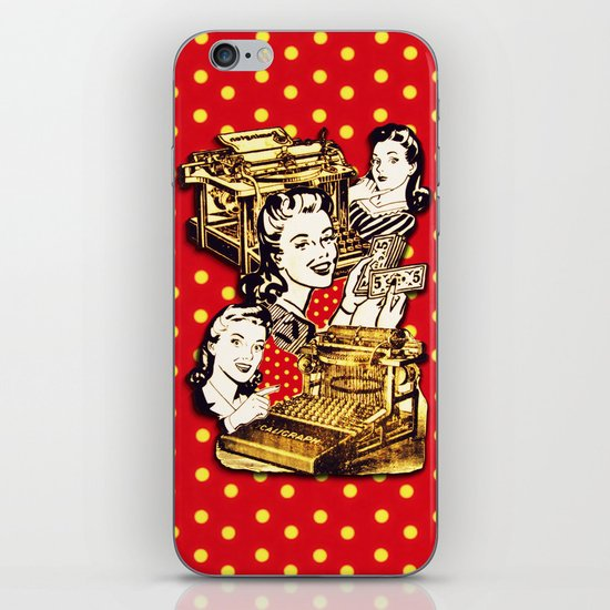 Quirky Office Gals iPhone Skin