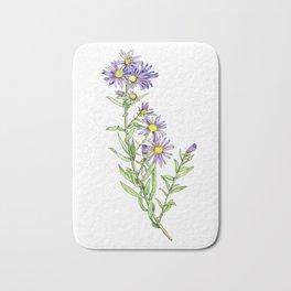 Purple Aster Wildflowers Bath Mat