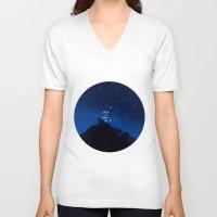 wall e V-neck T-shirts featuring Wall-e by KanaHyde