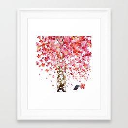 CHERRY WIND Framed Art Print