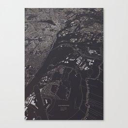 Hamburg 3D city map Canvas Print