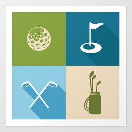 Golf Art Print