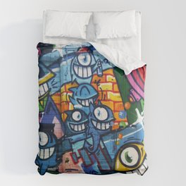 Cartoon Graffiti Art Comforters