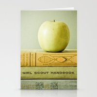 apple Stationery Cards featuring Apple by Olivia Joy StClaire