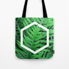 Exagon into the ferns Tote Bag