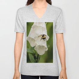 Bumblebee in the campanula Unisex V-Neck
