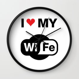 My Wife T-Shirt Wall Clock