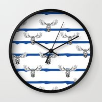Moose Wallpaper Wall Clock