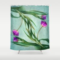 twins Shower Curtains featuring twins by lucyliu