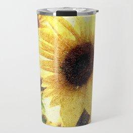 Sunflower Art 1 Travel Mug