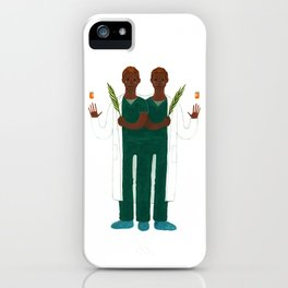 Cosmas and Damian iPhone Case