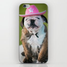 Cowgirl Puppy iPhone Skin