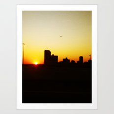 city sunset Art Print