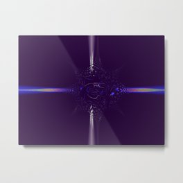 Collision on Indigo Metal Print