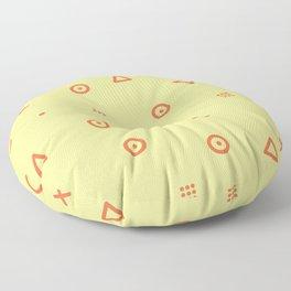 Happy Particles - Yellow Floor Pillow