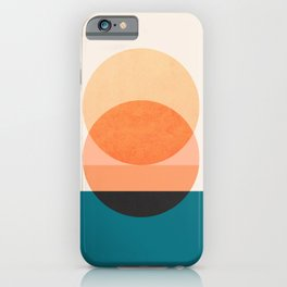 Abstraction_NEW_SUNSET_OCEAN_WAVE_POP_ART_Minimalism_0022D iPhone Case