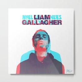 LIAM GALLAGHER/NOEL GALLAGHER 3D DESIGN Metal Print