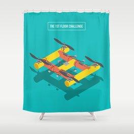 The 1st Floor Challenge Shower Curtain